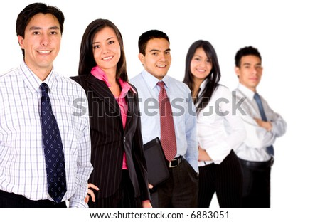 group of business people isolated over a white background - stock photo
