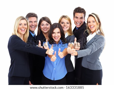 Group of business people Isolated over white background.