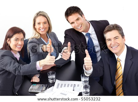 Group of business people. Isolated over white background - stock photo