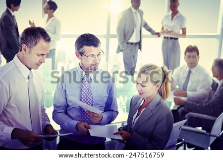 Group of Business People Meeting Concept - stock photo