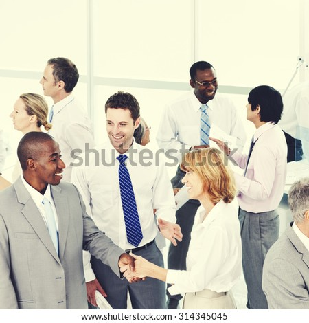 Group of Business People Meeting Office Workshop Concept - stock photo