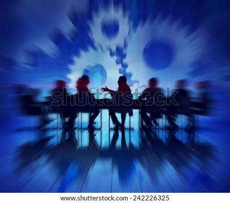 Group of Business People Meeting on Economic Recovery - stock photo