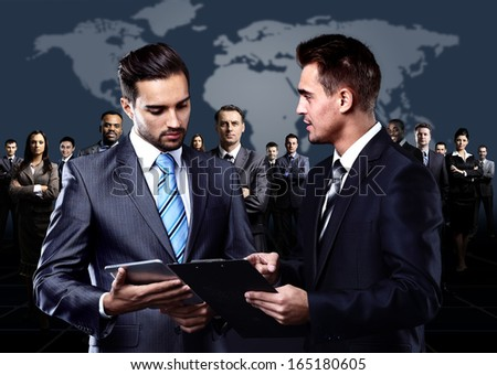 group of business people on the meeting  - stock photo