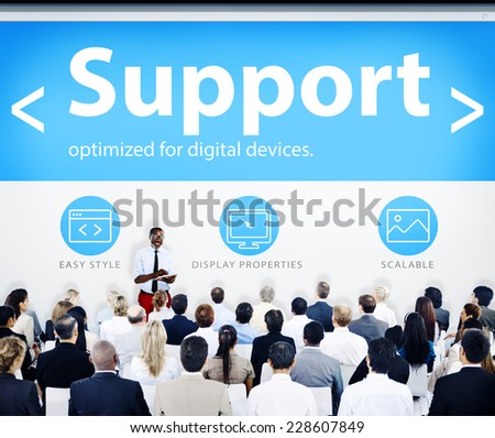 Group of Business People Seminar Support Concept - stock photo