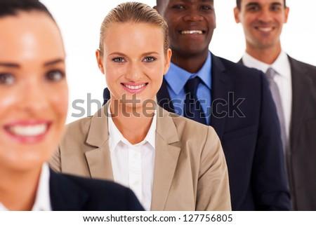 group of business people studio portrait - stock photo