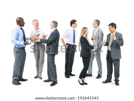 Group of Business People Talking - stock photo