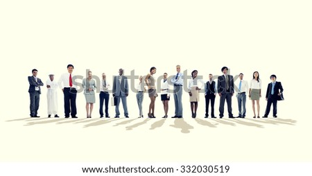 Group of Business people Team Aspiration Concept - stock photo