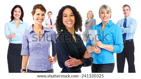 Group of Business people team isolated on white background.