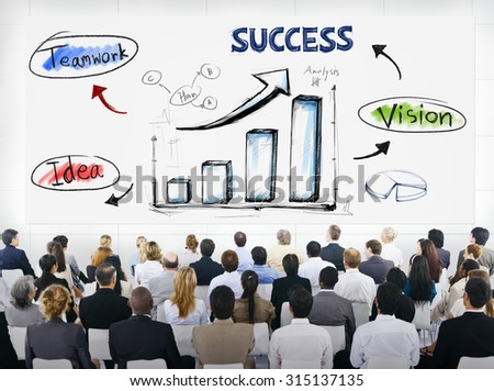 Group of Business People with  Presentation Concept - stock photo
