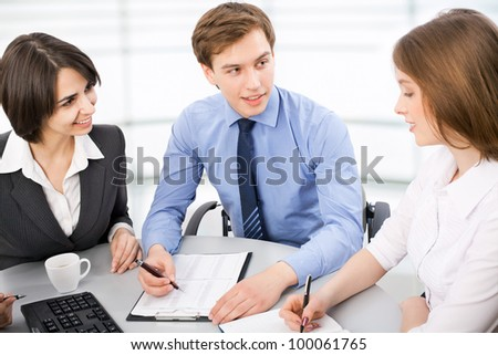 Group of business people working at the office