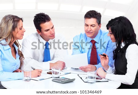 Group of business people working in the office.