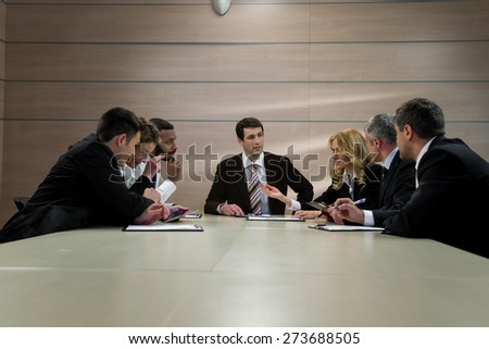 Group of businessmen. - stock photo