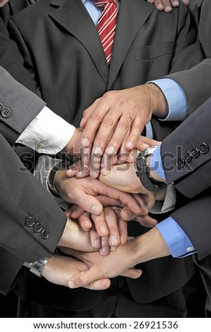 Group of businessmen isolated in white