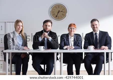 Group of businesspeople having a meeting