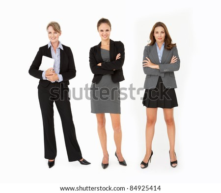 Group Of Businesswomen In Studio - stock photo