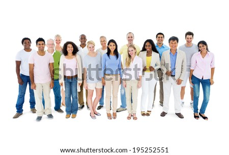 Group of casual people - stock photo