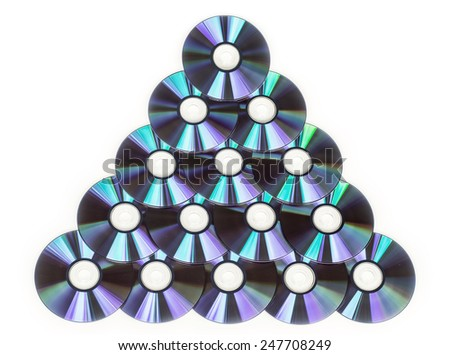 group of CD - stock photo