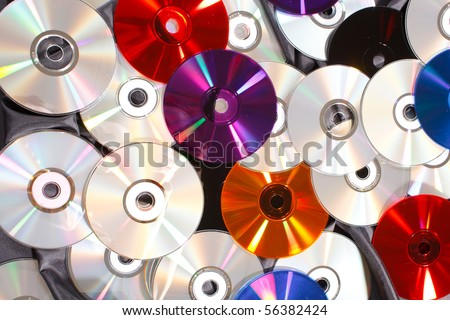 group of CDs - stock photo
