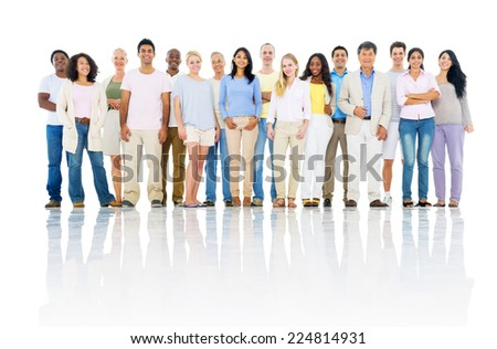 Group of Cheerful Multi Ethnic Diverse People - stock photo