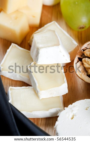 group of cheeses - stock photo