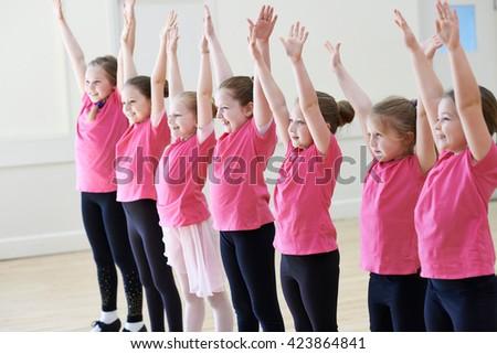 Group Of Children Enjoying Drama Class Together - stock photo