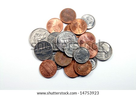 Group of Coins - stock photo