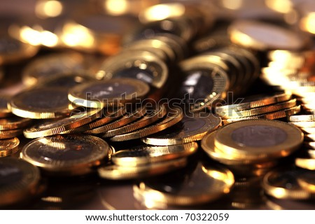Group of coins business money - stock photo