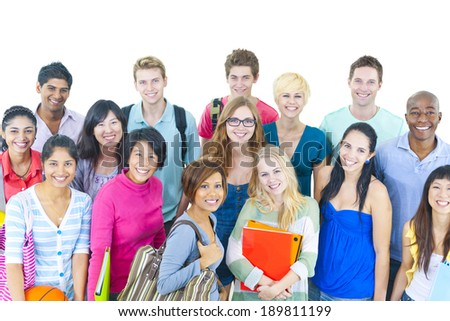 Group of College Student - stock photo