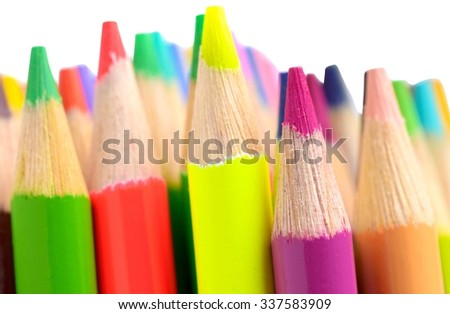 Group of Colored Pencil - Isolated