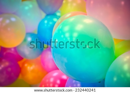 Group of colorful balloons - stock photo
