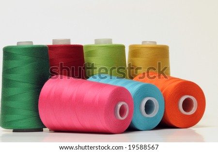 Group of colorful threads - stock photo