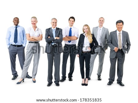 Group of Confident and Diverse Business People - stock photo