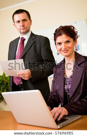 Group of confident business man and woman make a successful team