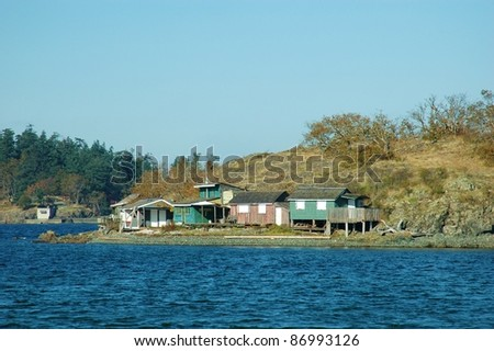Group of Cottages on an Island