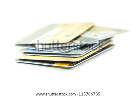 Group of Credit cards - stock photo