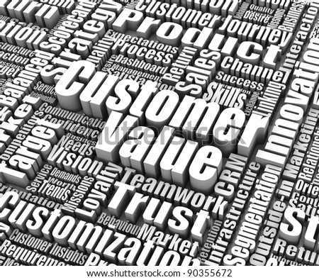 Group of customer value related words. Part of a business concept series. - stock photo