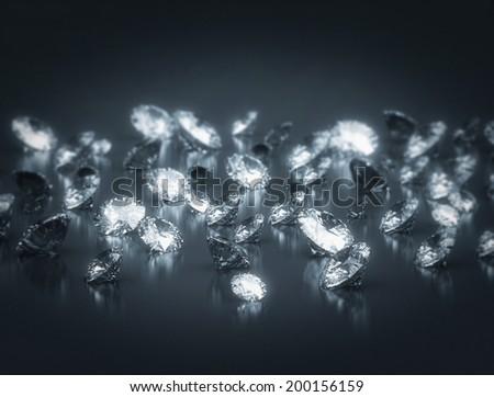 Group of diamonds  - stock photo