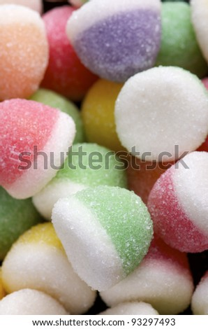 group of differenet colors of jelly beans - stock photo