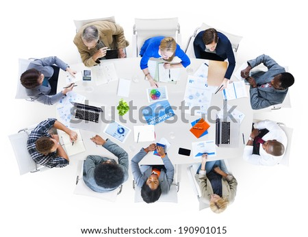 Group of Diverse Business People Discussing Issues - stock photo