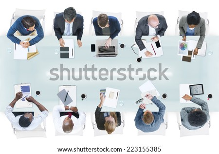 Group of Diverse Business People in a Meeting - stock photo