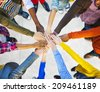 Group of Diverse Multiethnic People Teamwork - stock photo