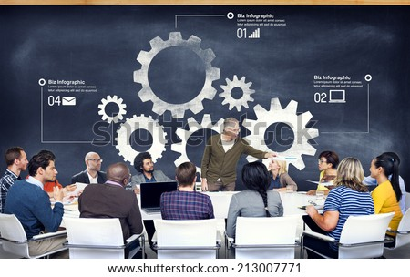 Group of Diverse People Listening to the Speaker - stock photo