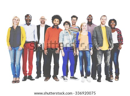 Group Of Diverse People Standing Together Concept - stock photo