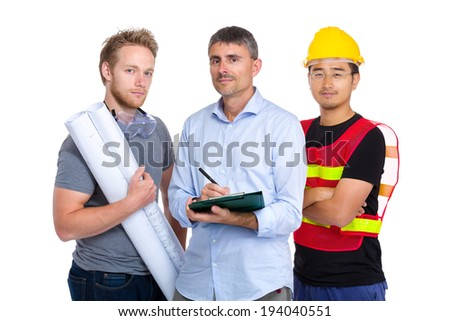 Group of engineer from different country - stock photo