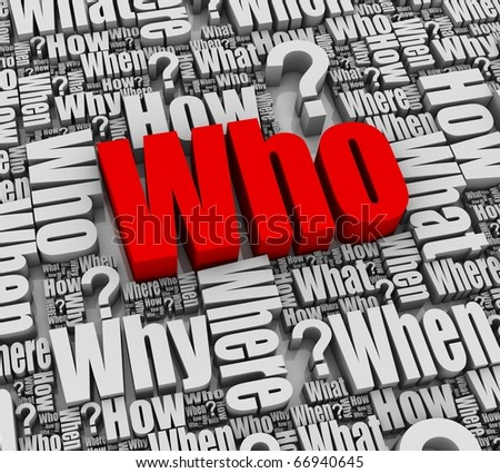 Group of faq 3D words. Part of a series. - stock photo