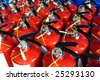 group of fire extinguishers - stock photo
