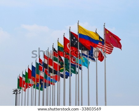 Group of flags
