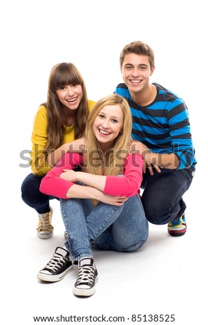 Group of friends - stock photo