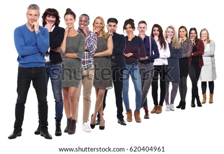 Group of full body people
