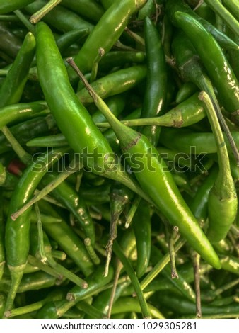 group of green chillies